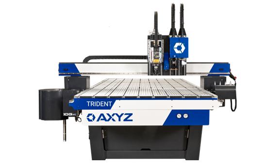 AXYZ Trident – A legsokoldalúbb CNC maró és késes megmunkáló gép